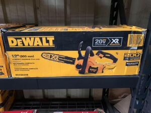 DeWalt 12in 20v Max Compact Chainsaw (tool only), dccs620B, inv #c4020