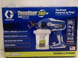 GRACO TRUECOAT 360DS TRUEAIRLESS PAINT SPRAYER