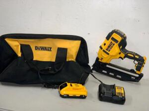 Dewalt 20vMax Brushless XR 16GA Angled Nail battery and Charger included