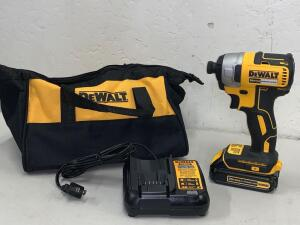 Dewalt 20vMax Brushless Impact Driver Kit Battery and Charger Included