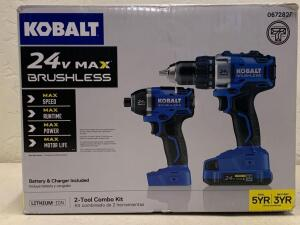 KOBALT 24vMAX Brushless Impact Driver Drill Driver Kit Battery and Charger Included
