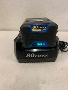KOBALT 80vMAX 2.5 Ah Battery and Charger