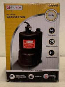 Sumersible Pump 1/3hp 25 gallon per min