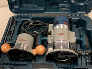BOSCH 1/4 in and 1/2 in 12 Amp 2.25 hp Variable Speed Combo Fixed Plunge Corded Router With Case