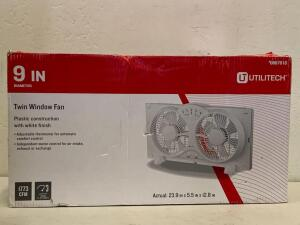 9 in Twin Window fan