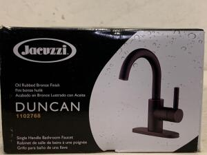 Jacuzzi Oil Rubbed Bronze Finish Single Handle Bathroom Faucet