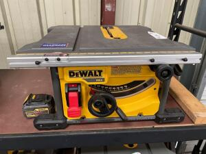 DeWalt 60v Max 81/4in Cordless Table saw, dcs7485, includes (1) Battery, inv #4915A