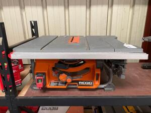 Ridgid 10in Table Saw, r4518t, inv #4156