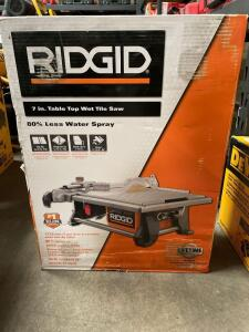 Ridgid 7in Table too wet tile saw, inv #4837