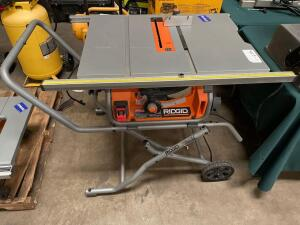 Ridgid 10in Table Saw with Rolling Stand, inv #4157
